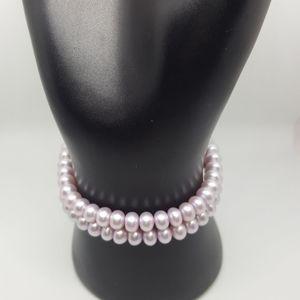 Honora Pink Colored 2 Bracelet Set